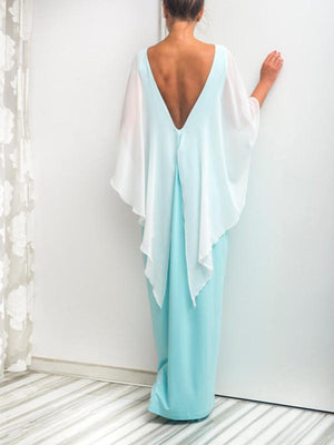 Simple Fashion Summer Round Neck with Shawl Maxi Dress Party Dress