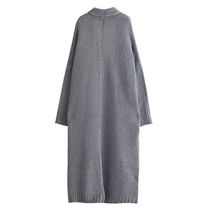 Autumn Knitted Cardigans Long Sleeves Loose Sweater Coat