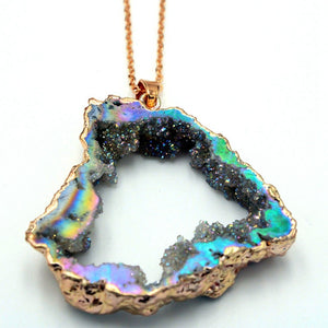Colorful Irregular Natural Stone Crystal Pendant Jewelry - Voguetide