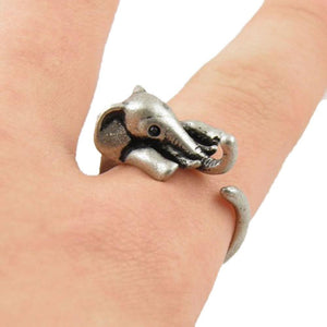 Vintage Boho Chic Mid Finger Elephant Ring