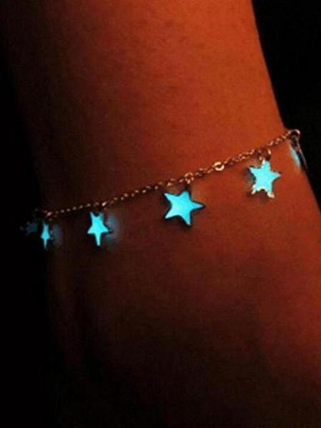 Luminous Ladies Beach Winds Blue Pentagon Star Anklet - Voguetide