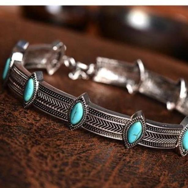 Boho Gypsy Turquoise Choker Necklace Jewelry