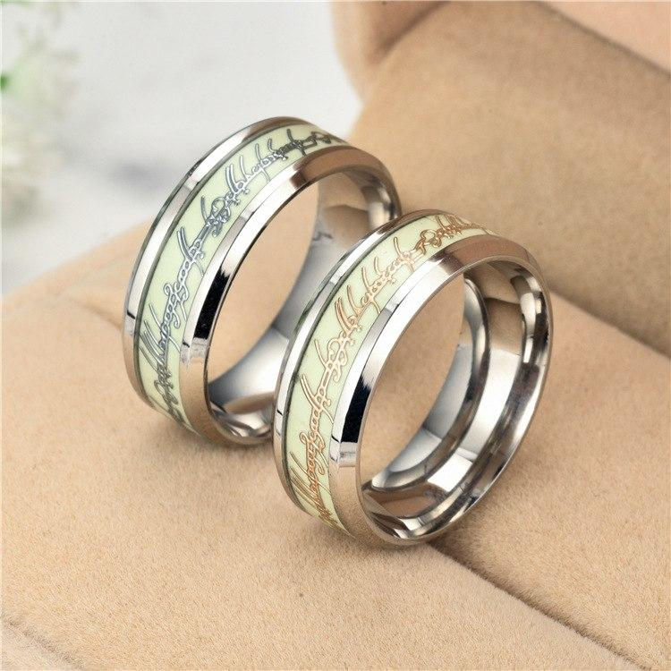 Luminous Ring Fluorescent Glowing Finger Rings Fashion Jewelry