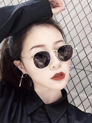 Luxury Mirror Sunglasses Women/Men Brand Designer Glasses Lady Round Sun Glasses Street Beat