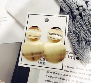Fashion Women Acrylic Big Round Brincos Zinc Alloy  Accessories Earring