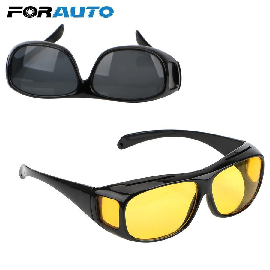 FORAUTO Night Vision Driver Goggles Unisex HD Vision Sun Glasses Car Driving Glasses UV Protection