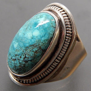 Vintage Natural Turquoises Rings Jewelry