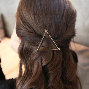Girls Fashion Hairpins Hollow Triangle Hair Clip Party Hair Accessories Headwear