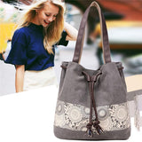 Ladies Canvas Totes Casual Large Portable Shopping Bag  Shoulder Bags