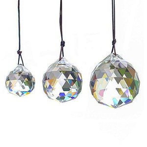 Faceted Crystal Ball Chandelier Drop Pendants Decoration