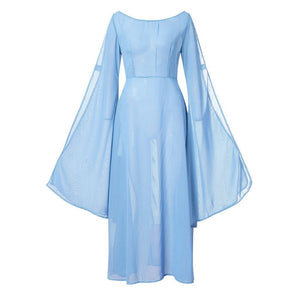 Retro Medieval Renaissance Cosplay Vintage Party Club Maxi Dress