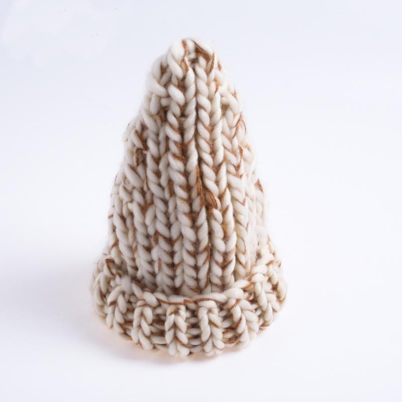 Winter Mixed Color Spire Thicken Knit Hat Bonnet
