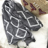 Tassel Autumn Long Cotton And Linen Scarf Shawl