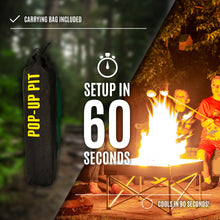 Load image into Gallery viewer, Fireside Outdoor Pop-Up Pit & Heat Shield Combo
