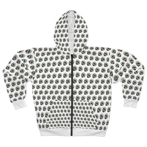 Overland Addict Patterned Zip Hoodie