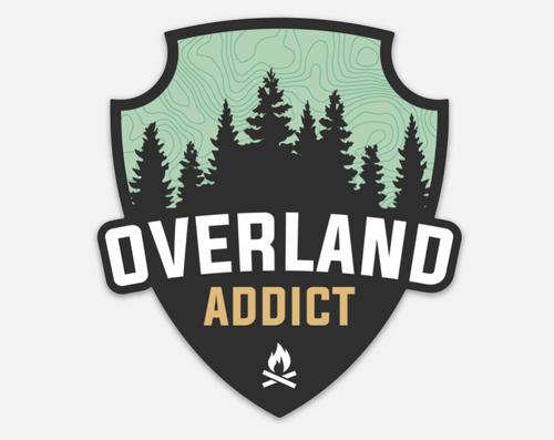 Overland Addict Die-Cut Sticker (v1)