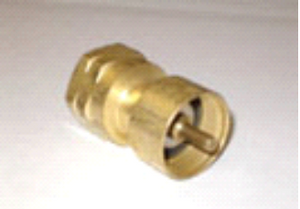 Cook Partner 1lb Propane Adapter (Brass)