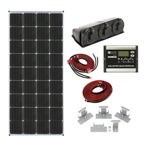170-Watt Dual Battery Bank Roof Mount Kit - By Zamp Solar