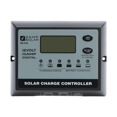 10 Amp 5-Stage PWM Charge Controller - By Zamp Solar