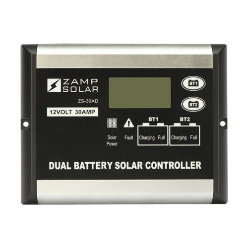 30-Amp Dual Battery Bank 5-Stage PWM Charge Controller - By Zamp Solar