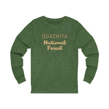 Load image into Gallery viewer, Ouachita National Forest Long Sleeve Tee (words only)