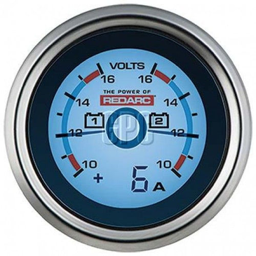 Dual Voltage 52MM Gauge with Optional Current Display - By REDARC