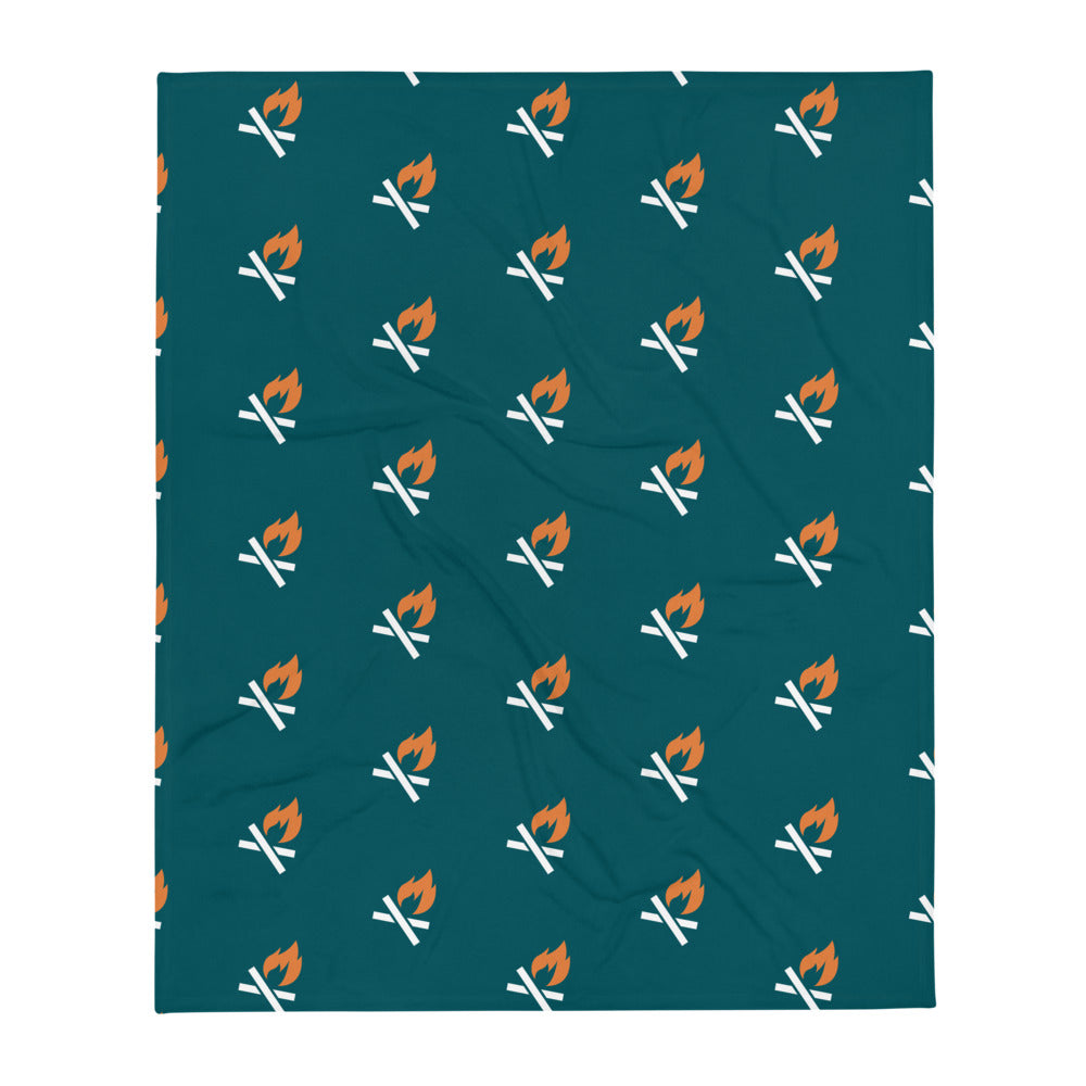 All Over Campfire Blanket - Teal