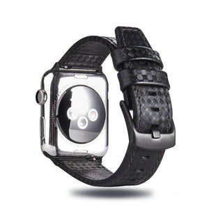 Luxury Leather Carbon Fiber Strap