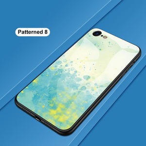 Luxury Tempered Glass Cover Case