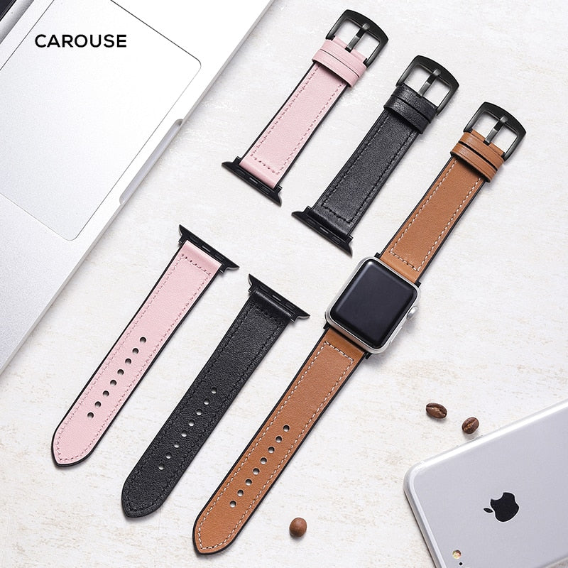 Leather Silicone Band