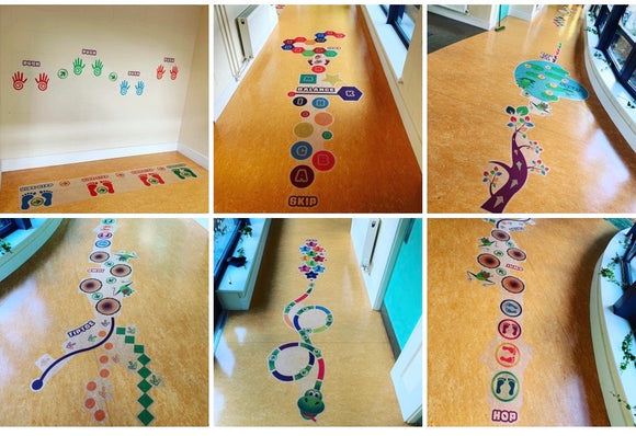 Sensory Living Floor Stickers- Full Set