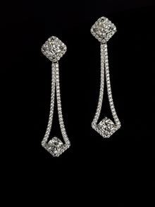 14kt White Gold Moissanite Chandelier Earrings