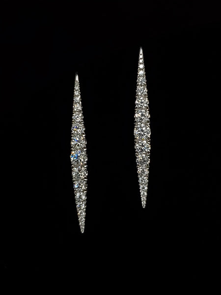 14kt White Gold Marquise Shaped Earrings
