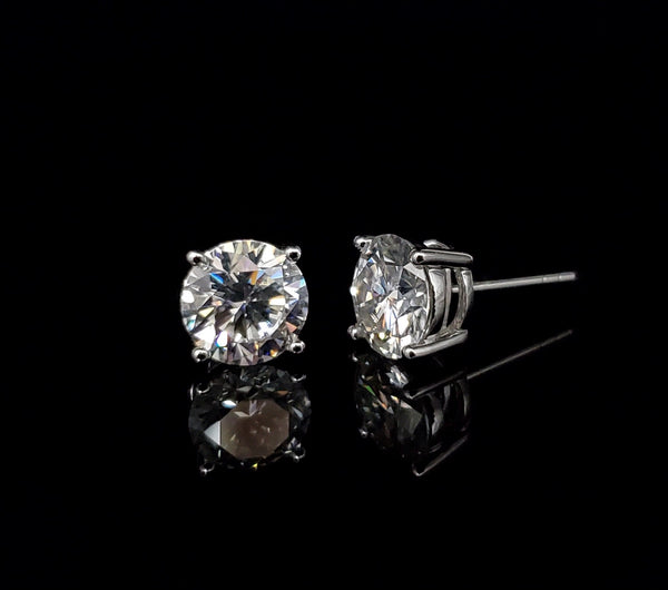 14kt White Gold Moissanite Stud Earrings 3.34ct
