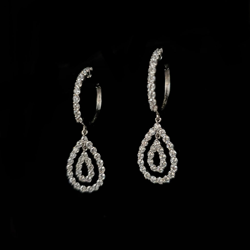 14kt White Gold Moissanite Earrings