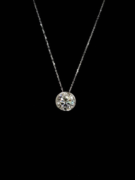 14kt White Gold Moissanite Necklace