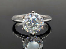 3 carat Moissanite Solitaire Ring in 14kt White Gold