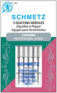 Chrome Quilting Needles, Size 75/11