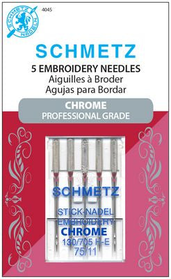 Chrome Embroidery Needles, Size 75/11