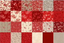 "Load image into Gallery viewer, NEW! Red Elegance 5"" Fabric Square Pack"