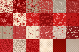 "NEW! Red Elegance 5"" Fabric Square Pack"