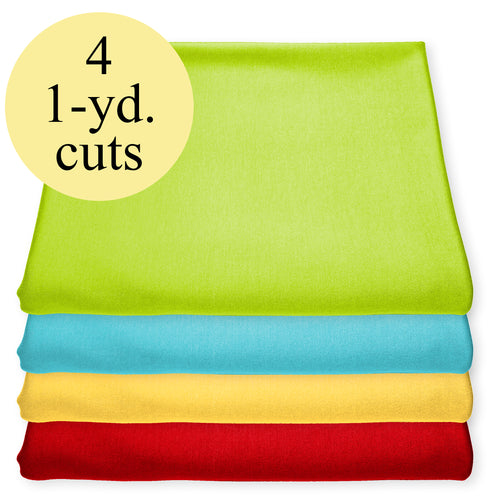 NEW! Brights Stretch Jersey Knit Fabric Pack – 4-Yard Bundle