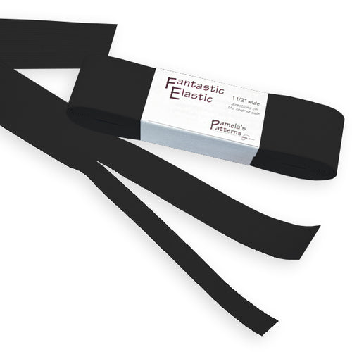Black Fantastic Elastic, 4 yd. Pack