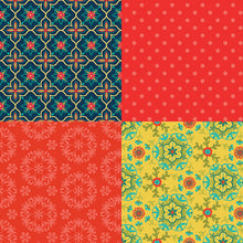 Load image into Gallery viewer, NEW! Wildflower Boutique Red Fat Quarter Panel