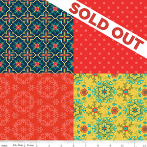 NEW! Wildflower Boutique Red Fat Quarter Panel