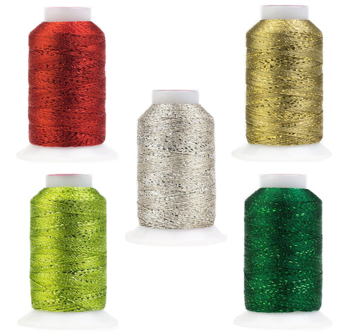 Fun Christmas GlaMore Metallic Rayon Thread Pack