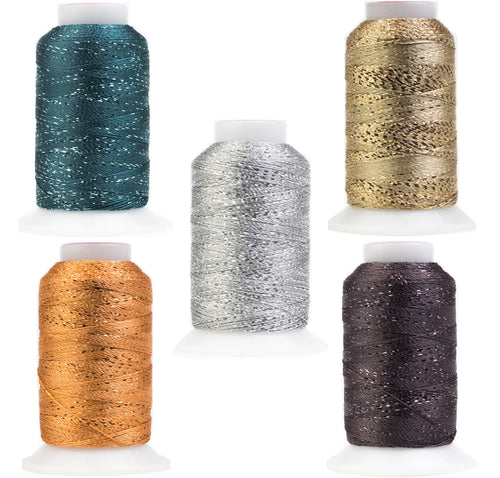 Simply Elegant GlaMore Metallic Rayon Thread Pack