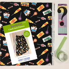 Load image into Gallery viewer, 2019 I Sew For Fun Kids' Sewing Challenge Cinch Sack Kit–GREEN