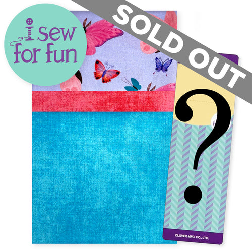 NEW! Exclusive 2020 I Sew For Fun Kids' Sewing Challenge Pillowcase Project Pack– Butterflies Aqua