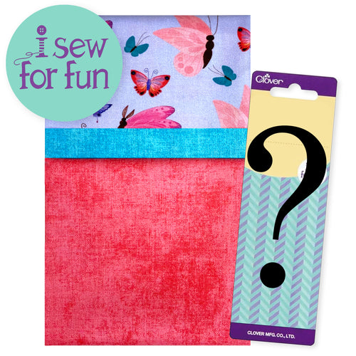 NEW! Exclusive 2020 I Sew For Fun Kids' Sewing Challenge Pillowcase Project Pack– Butterflies Pink